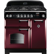 Rangemaster CLA90DFFCY/C Classic 90cm Dual Fuel Range Cooker - Cranberry with Chrome
