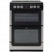 New World NW601EDOSS 60cm Double Oven Electric Cooker