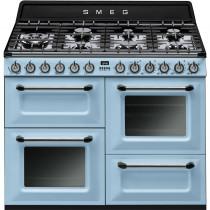 Smeg Victoria TR4110AZ 110cm Dual Fuel Range Cooker - Pastel Blue