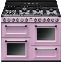 Smeg Victoria TR4110RO 110cm Dual Fuel Range Cooker - Pink
