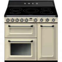 Smeg Victoria TR93IP 90cm Induction Range Cooker - Cream