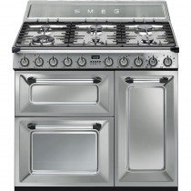 Smeg Victoria TR93X 90cm Dual Fuel Range Cooker - Stainless Steel