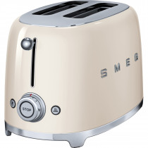 Smeg TSF01CRUK Retro 2 Slice Toaster - Cream