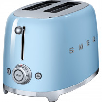 Smeg TSF01PBUK Retro 2 Slice Toaster - Pastel Blue