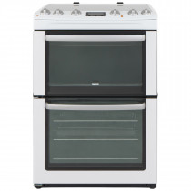 Zanussi ZCV667MWC 60cm Double Oven Electric Cooker
