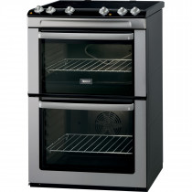 Zanussi ZCV668MX 60cm Double Oven Electric Cooker