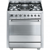 Smeg C7GPX8 70cm Dual Fuel Cooker - Stainless Steel