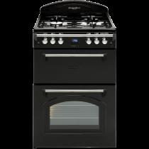 Leisure Gourmet GRB6FV Range-style 60cm Dual Fuel Cooker - Black