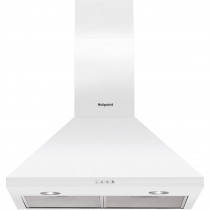 Hotpoint PHPC65FLMX 60cm White Cooker Hood