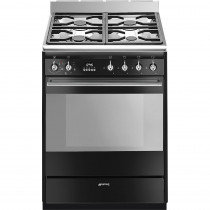 Smeg SUK61MBL9 60cm Dual Fuel Cooker - Black