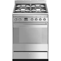 Smeg SUK61MX9 60cm Dual Fuel Cooker - Stainless Steel