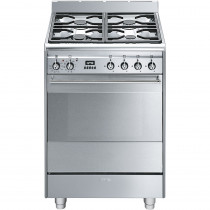 Smeg SUK61PX8 60cm Dual Fuel Cooker - Stainless Steel