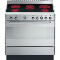 Smeg SUK91CMX9 90cm Electric Ceramic Range Cooker - Stainless Steel