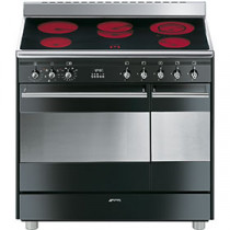Smeg SUK92CBL9 90cm Electric Ceramic Range Cooker - Black