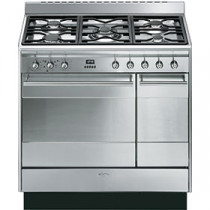 Smeg SUK92MX9 90cm Dual Fuel Range Cooker - Stainless Steel