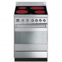 Smeg SY6CPX8 60cm Electric Ceramic Cooker - Stainless Steel