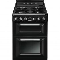 Smeg Victoria TR62BL 60cm Dual Fuel Range Cooker - Black