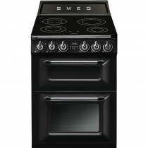 Smeg Victoria TR62IBL 60cm Electric Induction Range Cooker - Black