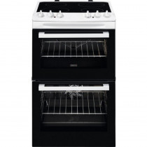 Zanussi ZCV46050WA 55cm Electric Double Oven Cooker