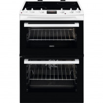Zanussi ZCV66370WA 60cm Double Oven Electric Cooker
