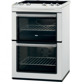 Zanussi ZCV668MW 60cm Electric Cooker Double Oven