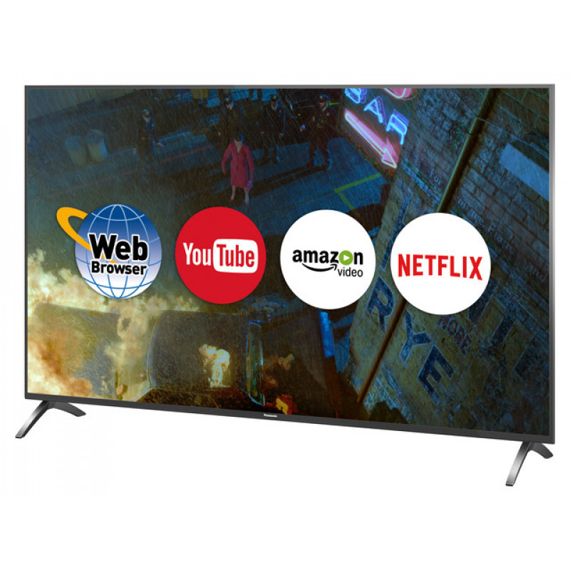 "Panasonic TX-55FX700B 55"" 4K LED TV Side on Apps"