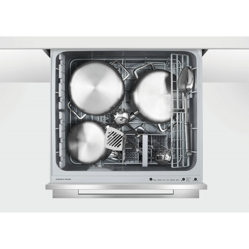 Fisher & Paykel DD60SDFHX9 Single DishDrawer™ Dishwasher, 6 Place Settings, Sanitise