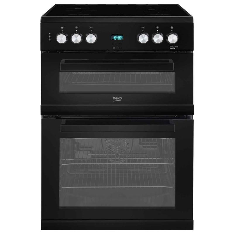 Beko EDC633K 60cm Double Oven Electric Cooker