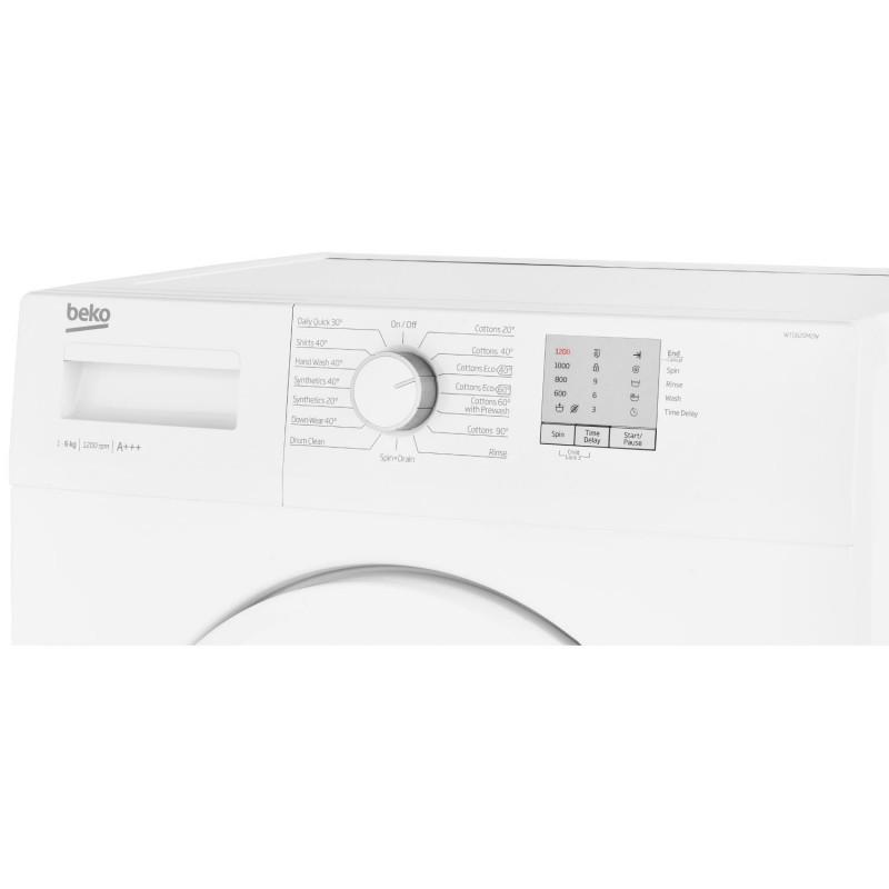 Beko WTG620M2W 1200 Spin 6kg Washing Machine