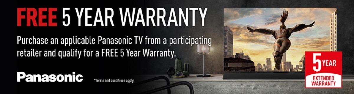 5 Year Guarantees on Panasonic TVs