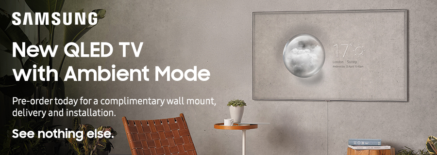 Samsung QLED TV with Ambient Mode