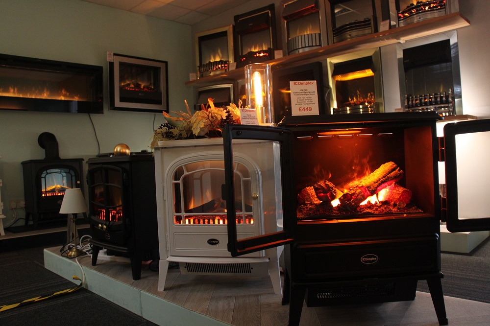 See Dimplex Opti-Myst and Dimplex Optiflame in our showroom