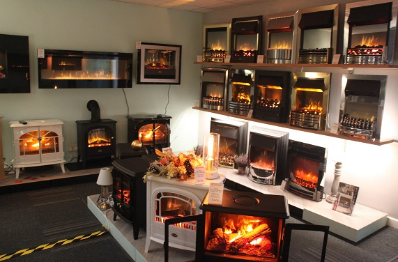 Electric Fire Shop Dealer Showroom Lutterworth Leicester