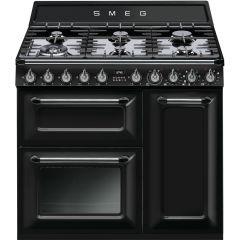 Smeg Victoria TR93BL 90cm Dual Fuel Range Cooker - Black