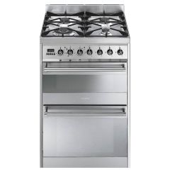 Smeg SY62MX8 60cm Dual Fuel Cooker - Stainless Steel