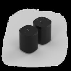 Sonos One (Gen 2) Bundle (x2) - Black