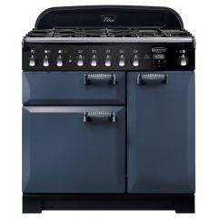 Rangemaster ELA90DFFSB/ Elan Deluxe 90cm Dual Fuel Range Cooker - Stone Blue