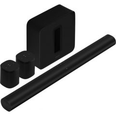 Sonos Arc Soundbar, Sub & 2x One SL - Black