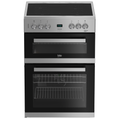 Beko EDC633S 60cm Double Oven Electric Cooker