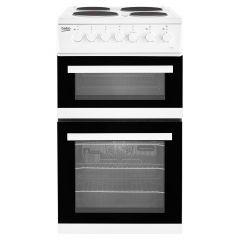 Beko EDP503W 50cm Double Oven Electric Cooker