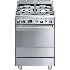 Smeg SUK61PX8 60cm Dual Fuel Cooker - Stainless Steel