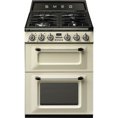 Smeg Victoria TR62P 60cm Dual Fuel Range Cooker - Cream