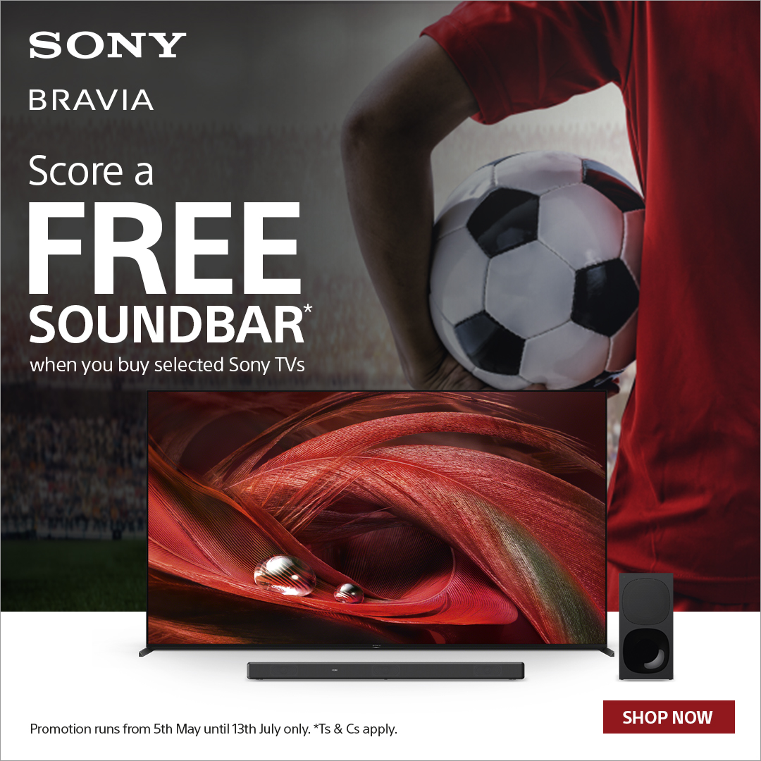 Score a Free Soundbar when you buy selected Sony TVs