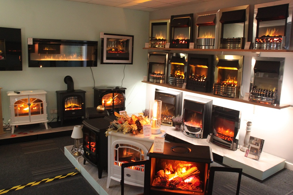 Largest Electric Fire Showroom in the area