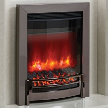 Elgin & Hall Ember Black Nickel Inset Electric Fire