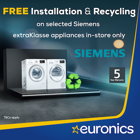 Free Recycling & Installation on selected Siemens appliances